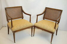 Gorgeous French Louis XVI Fruitwood Foyer Livingroom Arm Chairs c. 1930's
