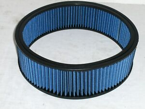 """14"""" x 4"""" Blue High Flow Washable Reusable Air Cleaner Filter Element Replacement"""