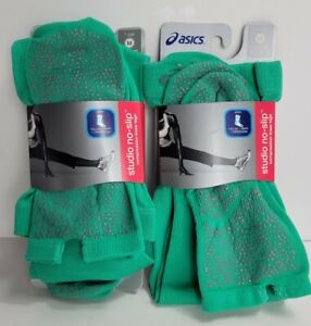 2 ASICS Studio No-Slip Compression Knee High Training Socks Athletic Knee