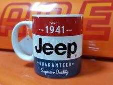 NOS AMC JEEP CJ J10 XJ Wrangler Wagoneer Cherokee COFFEE CUP RED WHITE & BLUE