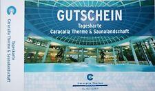 !!! CARACALLA THERME Baden-Baden - GUTSCHEIN  Tageskarte mit  Saunalandschaft!!!