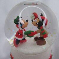 "Disney 2008 Hallmark Mickey Minnie Christmas Mini Snow Globe 3"""