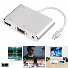 3 in 1 Lightning to HDMI VGA AV Adapter Cable For Apple iPhone iPad iPod Touch