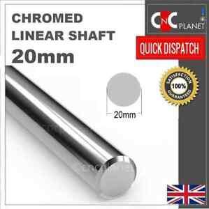 20mm Smooth Chromed Steel Linear shaft Round bar Rail slide rod Bearing 3D CNC