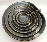 NICHIBEI Set of 6 STUDIO POTTERY Shell Nesting Bowls, Cheryl Costantini (RF-FR12