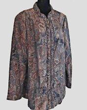 Tan Jay Women Jacket Size 22 Plus  Multicolor Lightweight Long Sleeve Outerwear