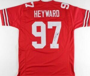 Cameron Heyward Signed Jersey (Beckett COA)Ohio State Buckeyes