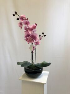 Artificial Pink Orchid Plant in Pot - 52cm