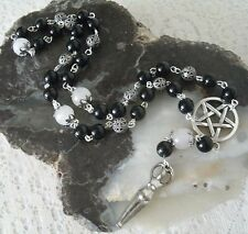 Wiccan Prayer Beads, wicca pagan witch witchcraft goddess metaphysical pentacle