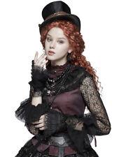 Punk Rave Womens Steampunk Cuffs Gloves Black Lace Gothic VTG Victorian Bronze