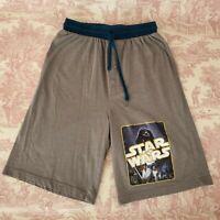 Star Wars Pajama Shorts Sleep Bottoms M Medium Darth Vader Gray Elastic Waist