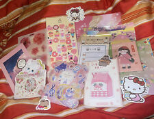 120+ Pcs Kawaii Cute Pink Themed Stationary Set