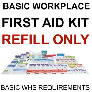 First Aid Kit FULL REFILL NATIONAL BASIC WORKPLACE OFFICE OHS WHS