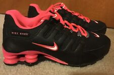 NIKE SHOX Sz 4.5Y Black With NEON PINK Running SNEAKERS Shoes 06/11/2014 310480