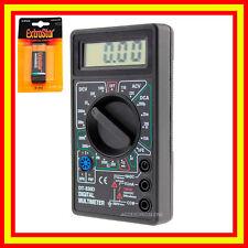 Polimetro Multimetro Digital Voltimetro Profesional Tester Medidor inc+pila 9V
