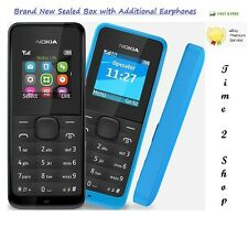 Brand New Nokia Dual Sim 105-BLACK (Unlocked) 2 Sim Dust Free Mobile Phone Basic