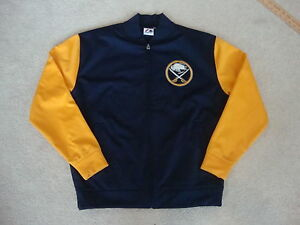 Buffalo Sabres NHL Majestic Throwback Track varisty Jacket L