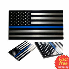 Metal Police Officer Thin Blue Line American Flag Decal Car Sticker Graphic Hot