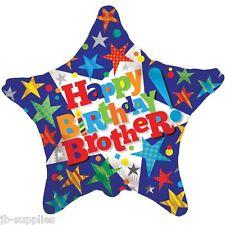 "18"" HAPPY BIRTHDAY BROTHER BRO FOIL HELIUM BALLOON  apac 15172"