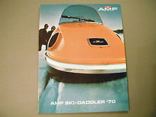 1970 Vintage AMF Ski-Daddler Snowmobile Brochure