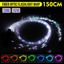 5ft LED Fiber Optic Whip360°Swivel Super Bright Light Up Rave Toy EDM Flow Dance