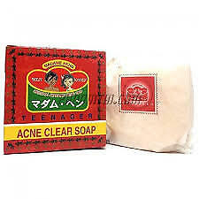 Madame Heng Acne Clear Soap Anti Pimples Face Neck Body Tea Tree Herbal150 g