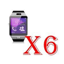 6 PZ PELLICOLA PROTEZIONE DISPLAY Gearmax Smartwatch DZ09 PROTEGGI SCHERMO LCD
