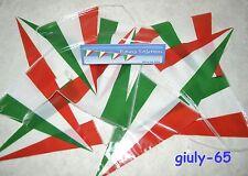Festone TRICOLORE bandiere triangolari ITALIA azzurri mondiali calcio tifo feste