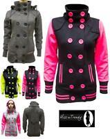 NEW LADIES WOMENS MILITARY JACKET COAT Trench Jacket Hooded Jacket sizes 8-14