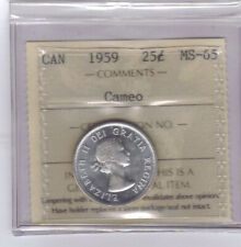 **1959** Canadian 25 Cents - ICCS MS-65 Cameo **NO SALES TAX**