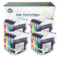 16pcs Pack Printer Ink + chip fits Brother LC101 LC103 MFC J470DW J475DW J650DW
