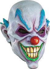 Scary Clown Mask Wide Smile Latex Bald Head ICP Evil Adult Creepy Costume Mens