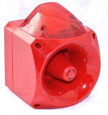 Klaxon Nexus KL9810555 110db Sound and Strobe warning sounder horn - RED