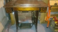 Old Singer Sewing Machine Built Into Table