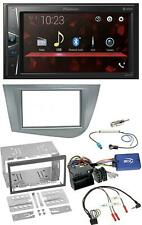 Pioneer MP3 2DIN USB Lenkrad Bluetooth Autoradio für Seat Leon 2005-2012 silber