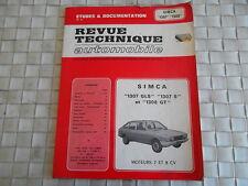 REVUE TECHNIQUE SIMCA 1307 GLS et S - 1308 GT MOTEURS 7 ET 8 CV