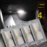 4Pcs White Ultra-bright Light LED For Tesla Model 3 S X Door Trunk Lamp LED