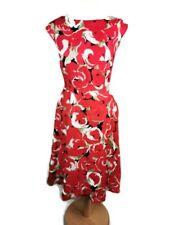 LAURA ASHLEY Pure Linen Floral Summer Multicoloured Dress Size 14