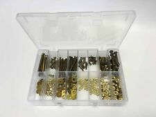 G.R Fasteners GRF0005 Assorted Brass BA Nuts, Screw and Washers