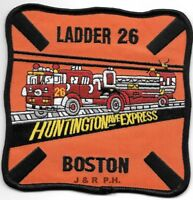 """4.5/"""" x 4.5/"""" size fire patch Boston  Ladder-29  /""""Blue Hill Ave./"""" MA"""