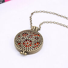Vintage Alloy Essential Oil Diffuser Perfume Aromatherapy Locket Necklace