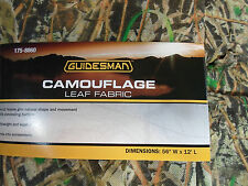 """Hunters Guidesman Camo Leaf Blind 56"""" x 12ft Die-cut Natural Green Camouflage"""