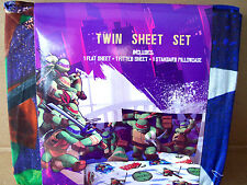 TEENAGE MUTANT NINJA TURTLES  COTTON RICH  TWIN SHEET SET  SINGLE BED