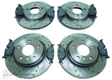 BMW E46 320D 320CD FRONT & REAR DRILLED GROOVED BRAKE DISCS MINTEX PADS NEW