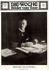 Admiral Scheer Chef der Deutschen Hochseeflotte 1916