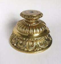 Vintage Cast Metal Lamp Base Brass Finish Loevsky L & L WMC