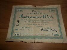 Notgeld 1923 ciudad Biebrich 50000 Mark