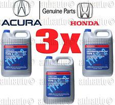 3x Gallon's Genuine Honda Acura Long Life Antifreeze / Coolant  (Blue Color)
