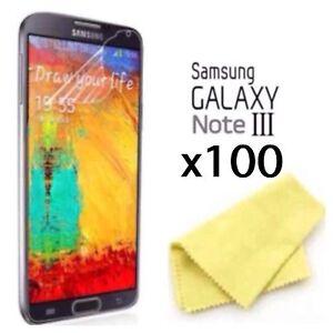 Samsung Galaxy Note 3 Screen Protector & Cloth Wholesale Job Lot x 100