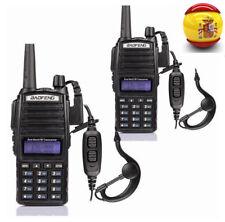 2x Baofeng UV-82L + PTT Auricular UHF/VHF banda dual Walkie Talkie Emisora Radio